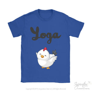 Yoga Chick - (Style B) - T-Shirt - Gildan Womens T-Shirt / Royal Blue / S - Inspiration Store Llc