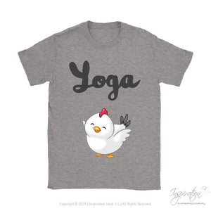 Yoga Chick - (Style B) - T-Shirt - Gildan Womens T-Shirt / Sport Grey / S - Inspiration Store Llc