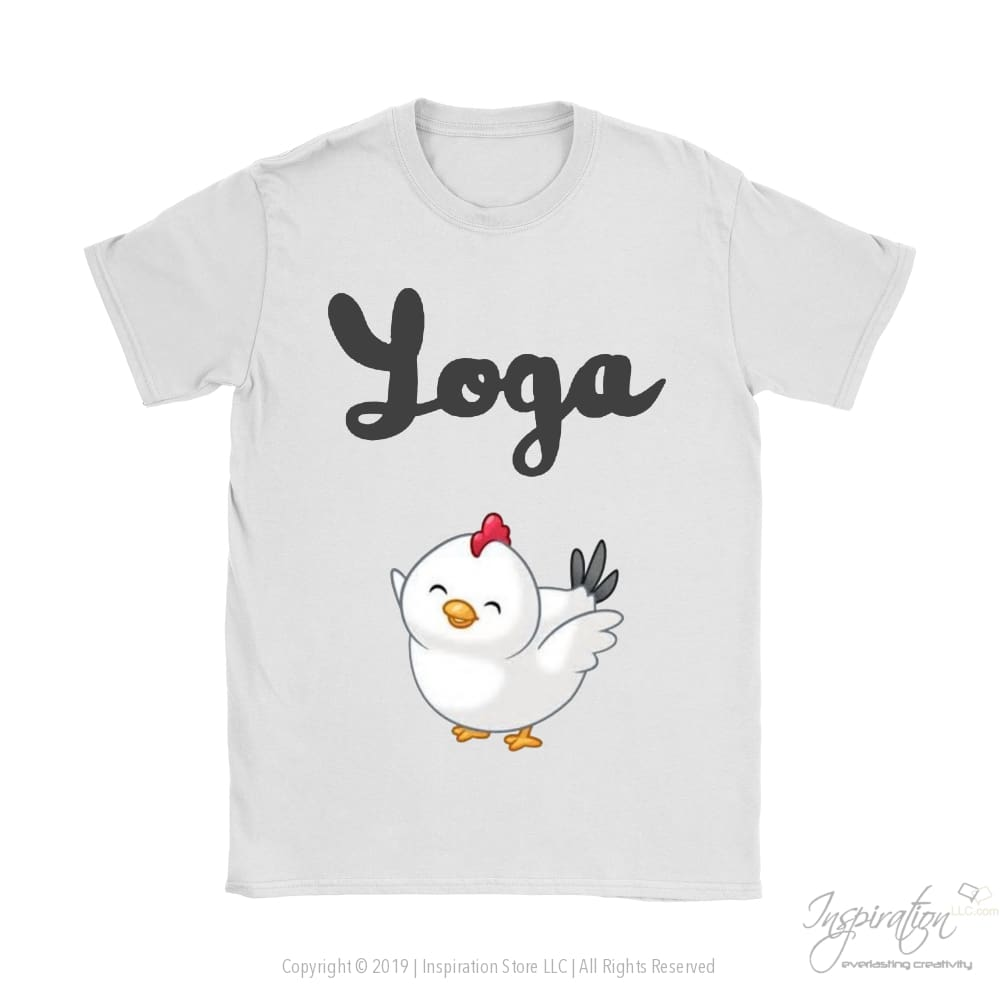 Yoga Chick - (Style B) - T-Shirt - Gildan Womens T-Shirt / White / S - Inspiration Store Llc