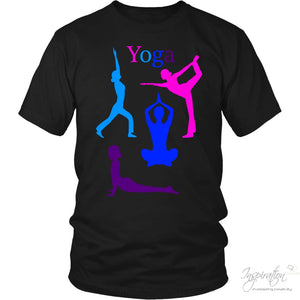 Yoga Colorful Graphic Shirts - (Style A) - T-Shirt - District Unisex Shirt / Black / S - Inspiration Store Llc