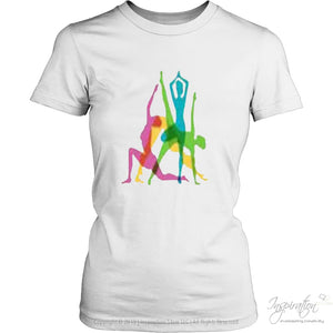 Yoga Crazy Colors - (Style B) - T-Shirt - District Womens Shirt / White / Xs - Inspiration Store Llc