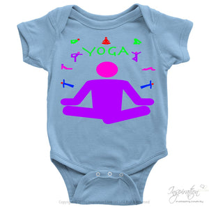 Yoga Meditation Pastel & Neon - (Style A) - T-Shirt - Baby Onesie / Light Blue / Nb - Inspiration Store Llc