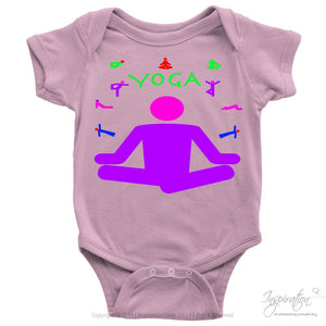 Yoga Meditation Pastel & Neon - (Style A) - T-Shirt - Baby Onesie / Pink / Nb - Inspiration Store Llc