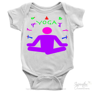 Yoga Meditation Pastel & Neon - (Style A) - T-Shirt - Baby Onesie / White / Nb - Inspiration Store Llc