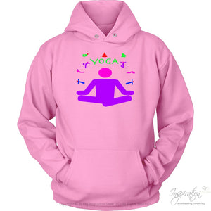Yoga Meditation Pastel & Neon - (Style A) - T-Shirt - Unisex Hoodie / Pink / S - Inspiration Store Llc