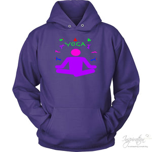 Yoga Meditation Pastel & Neon - (Style A) - T-Shirt - Unisex Hoodie / Purple / S - Inspiration Store Llc