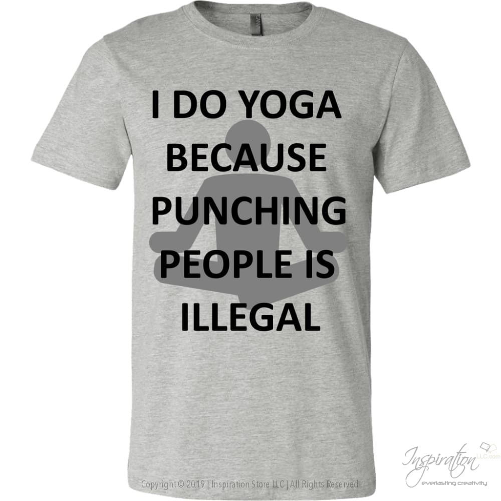 Yoga Punch - (Style A) - T-Shirt - Canvas Mens Shirt / Athletic Heather / S - Inspiration Store Llc
