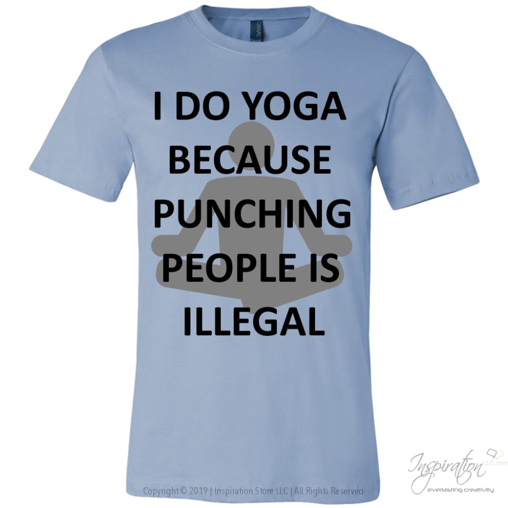 Yoga Punch - (Style A) - T-Shirt - Canvas Mens Shirt / Baby Blue / S - Inspiration Store Llc