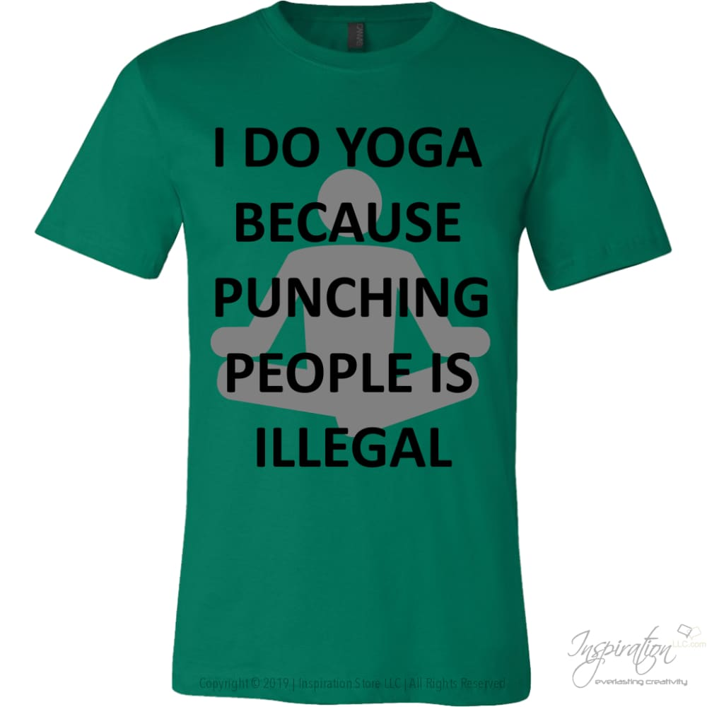 Yoga Punch - (Style A) - T-Shirt - Canvas Mens Shirt / Kelly Green / S - Inspiration Store Llc