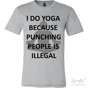 Yoga Punch - (Style A) - T-Shirt - Canvas Mens Shirt / Silver / S - Inspiration Store Llc
