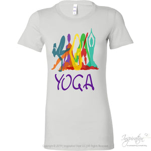 Yoga To Go Ladies Tee - T-Shirt - Bella Womens Shirt / White / S - Inspiration Store Llc