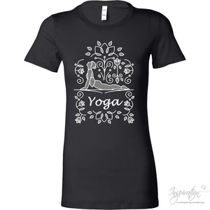 Yoga Urdva Dristi - (In Bella Womens) - T-Shirt - Bella Womens Shirt / Black / S - Inspiration Store Llc