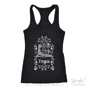Yoga Urdva Dristi Womens Racerback - Free Shipping - T-Shirt - Next Level Racerback Tank / Black / Xs - Inspiration Store Llc
