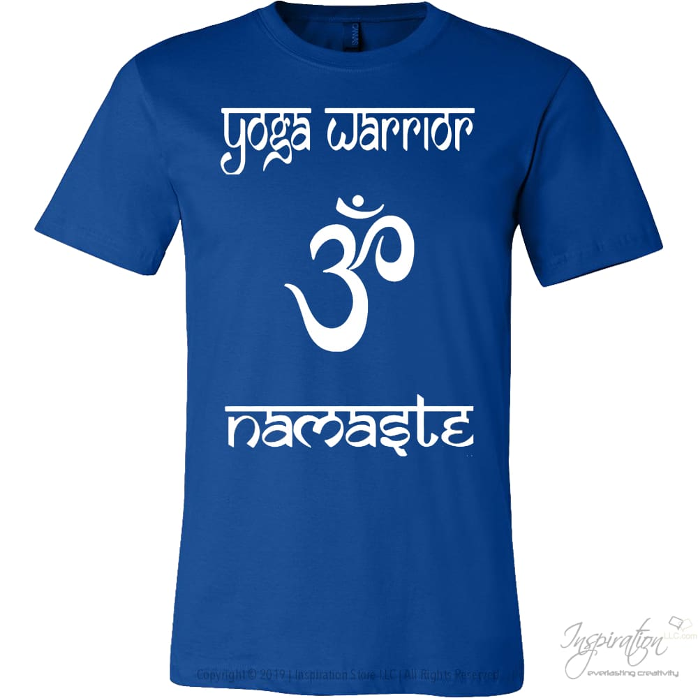 Yoga Warrior - Free Shipping - T-Shirt - Canvas Mens Shirt / True Royal / S - Inspiration Store Llc