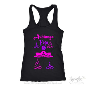 Yogi Womans Ashtanga Top - (Style A) Free Shipping - T-Shirt - Next Level Racerback Tank / Black / Xs - Inspiration Store Llc