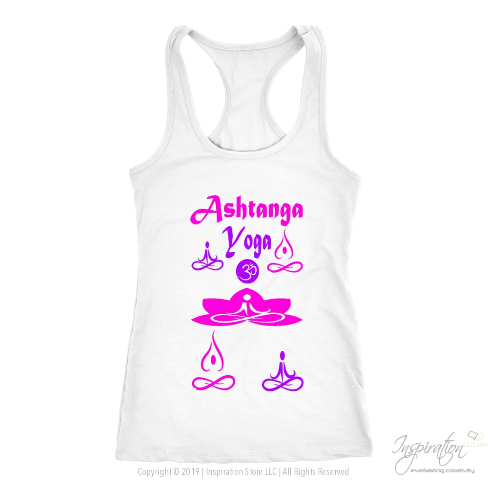 Yogi Womans Ashtanga Top - (Style A) Free Shipping - T-Shirt - Next Level Racerback Tank / White / Xs - Inspiration Store Llc
