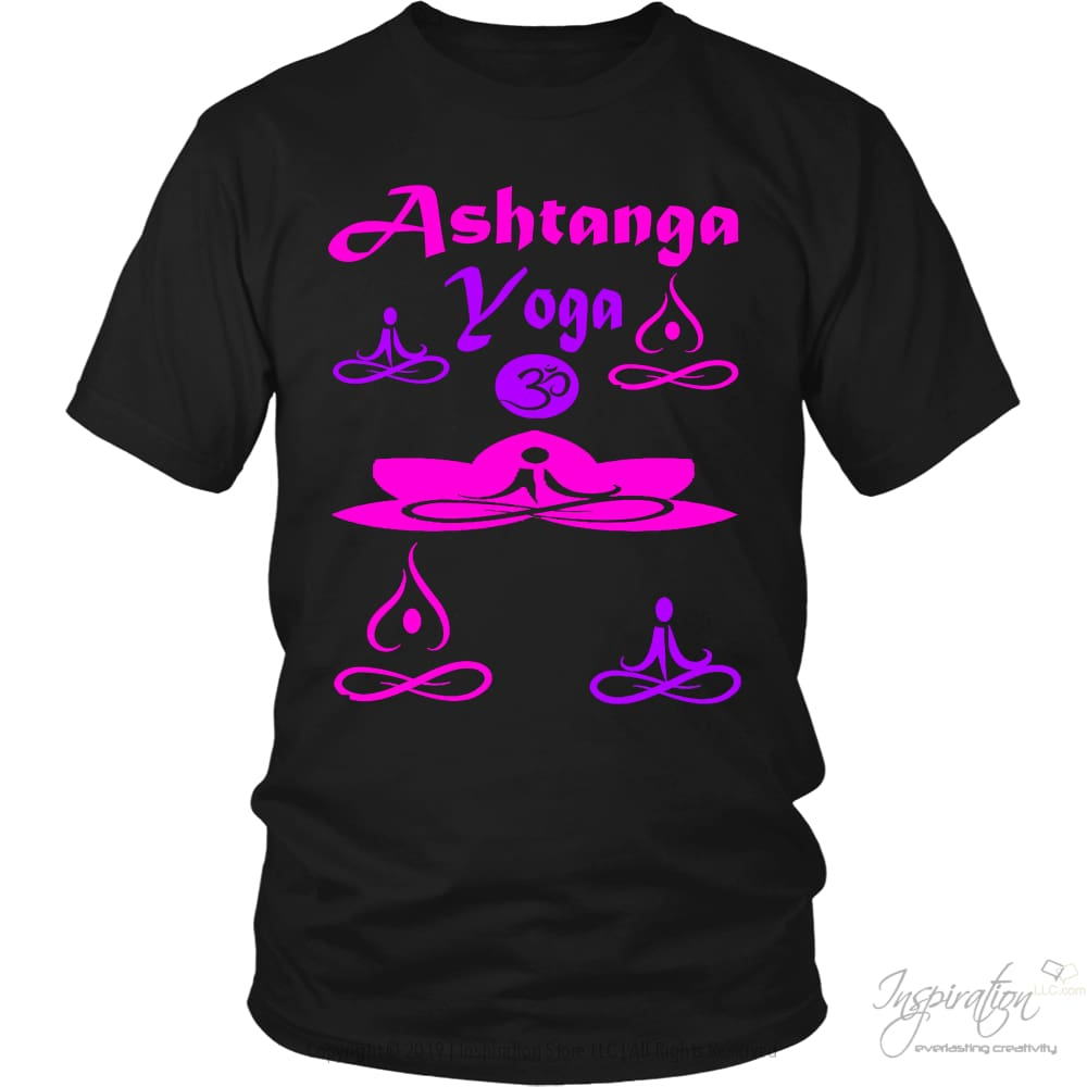 Yogi Womans Ashtanga Tops - (Style B) - T-Shirt - District Unisex Shirt / Black / S - Inspiration Store Llc