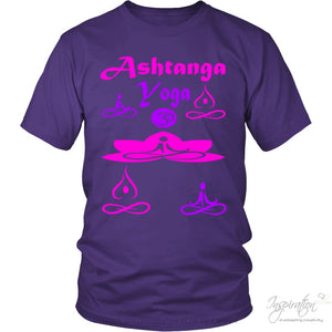 Yogi Womans Ashtanga Tops - (Style B) - T-Shirt - District Unisex Shirt / Purple / S - Inspiration Store Llc