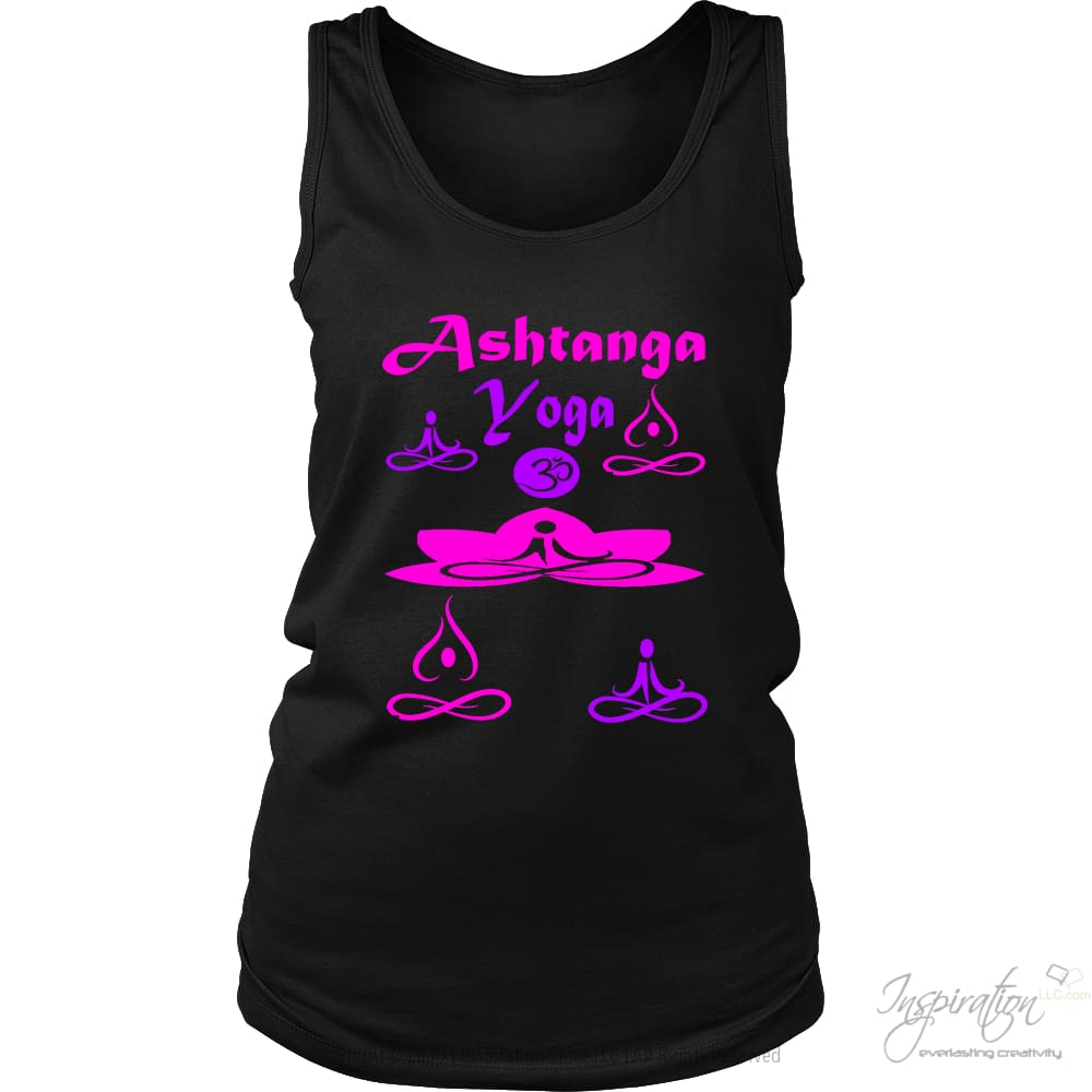 Yogi Womans Ashtanga Tops - (Style B) - T-Shirt - District Womens Tank / Black / S - Inspiration Store Llc