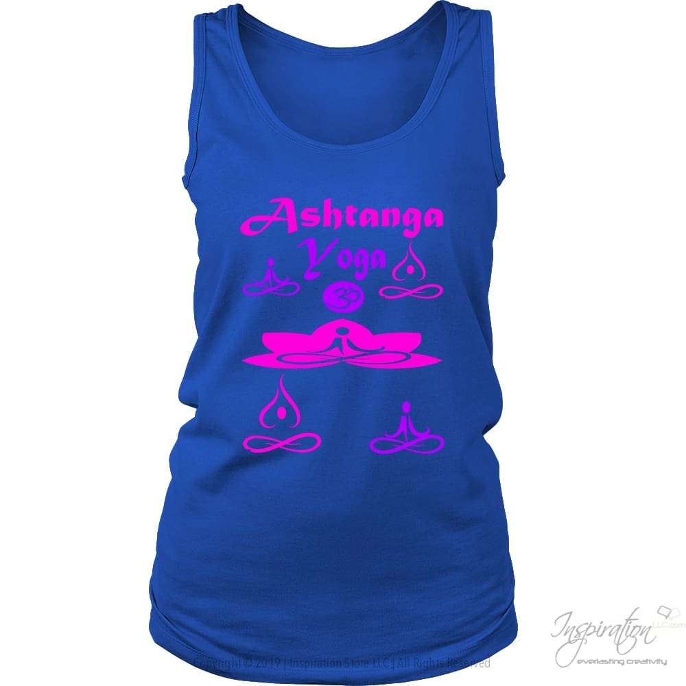 Yogi Womans Ashtanga Tops - (Style B) - T-Shirt - District Womens Tank / Royal Blue / S - Inspiration Store Llc