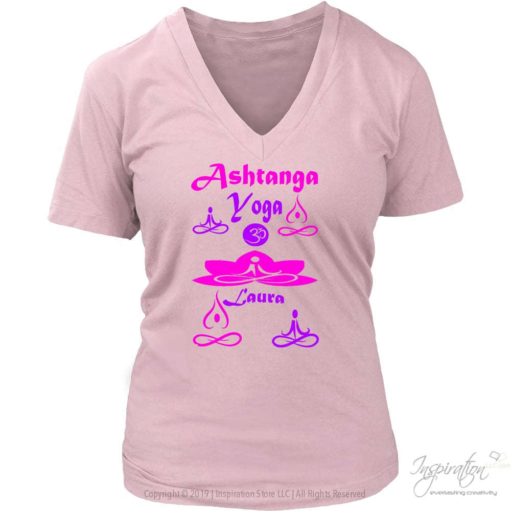 Yogi Womans Top - Laura (3 Styles) Free Shipping - T-Shirt - District Womens V-Neck / Pink / S - Inspiration Store Llc