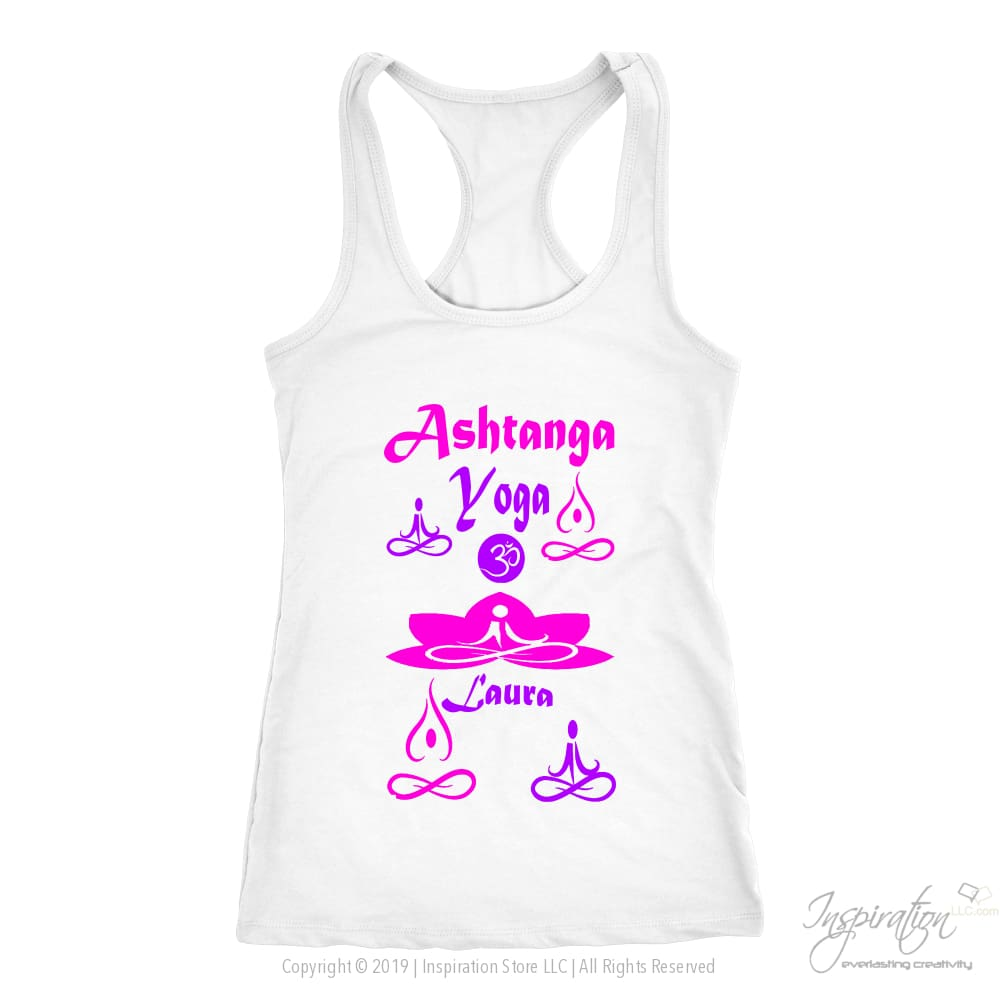 Yogi Womans Top - Laura (Style A) Free Shipping - T-Shirt - Next Level Racerback Tank / White / Xs - Inspiration Store Llc