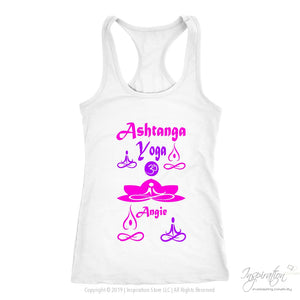Yogi Womans Tops - Angie (Style A) Free Shipping - T-Shirt - Next Level Racerback Tank / White / Xs - Inspiration Store Llc