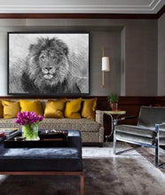 """Jabari"" Lion Sketch - Contemporary Australian Artist Christina Di Bona - CMD Artistry"