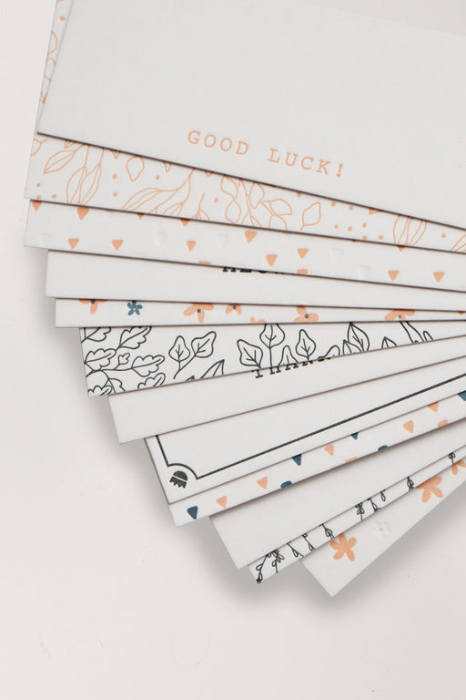 Letterpress Mini Cards - Peach