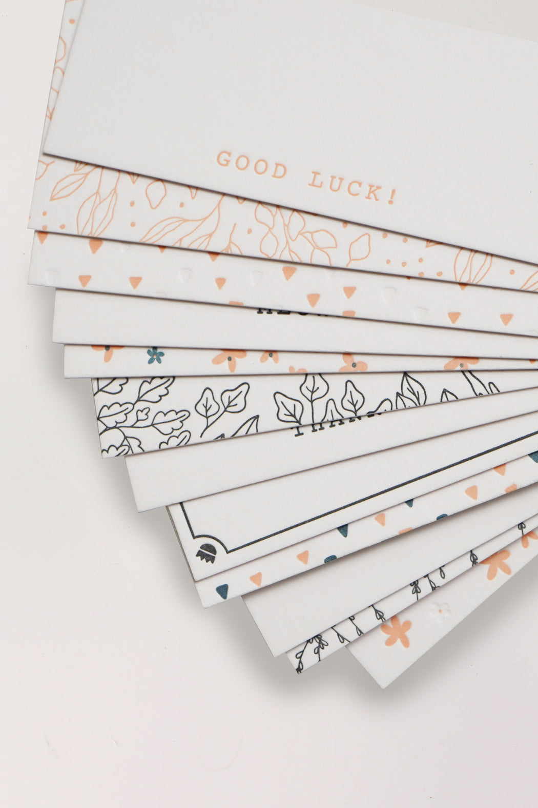 Letterpress Mini Cards - Flower Border