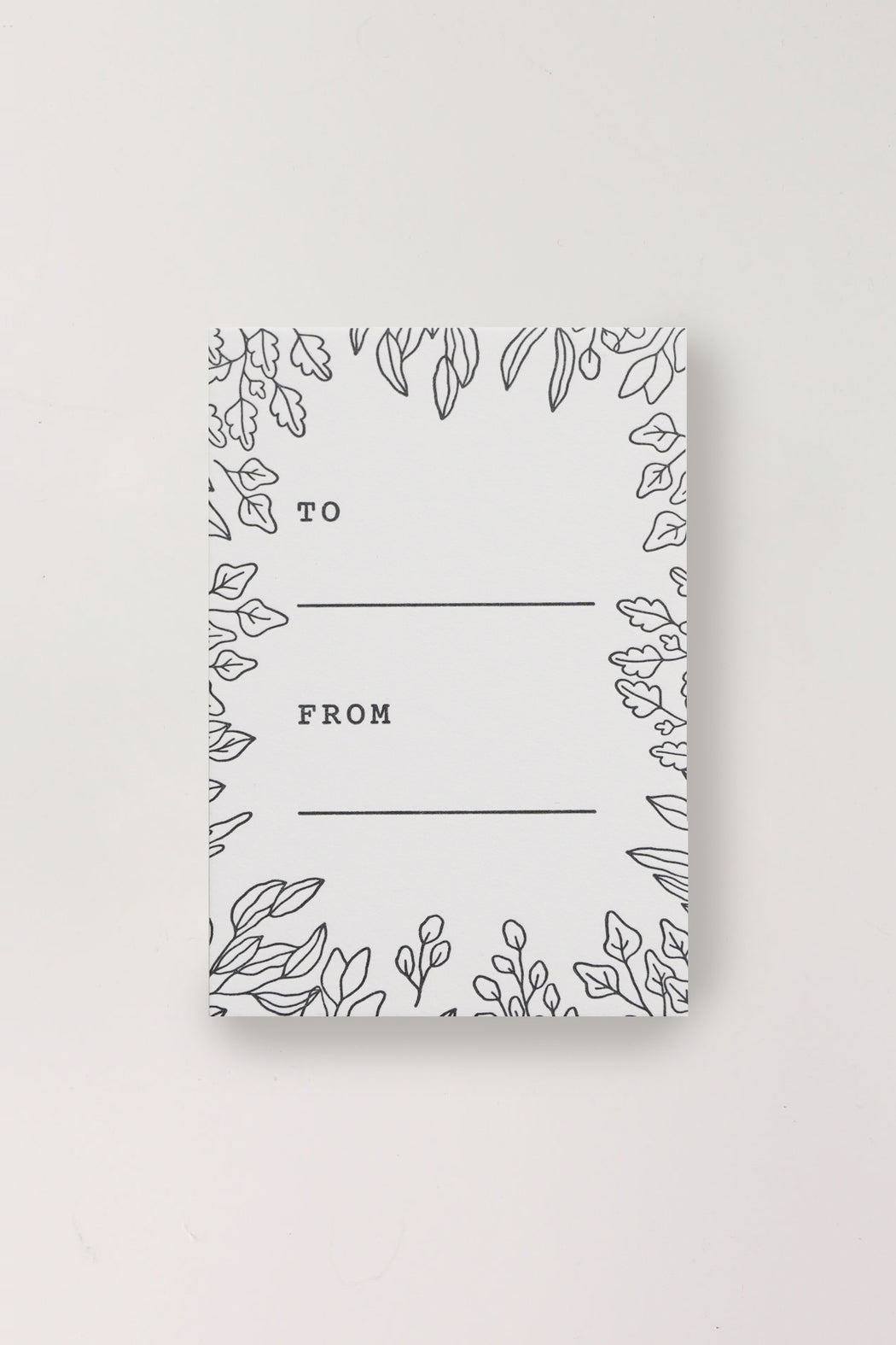 Letterpress Mini Cards - To From