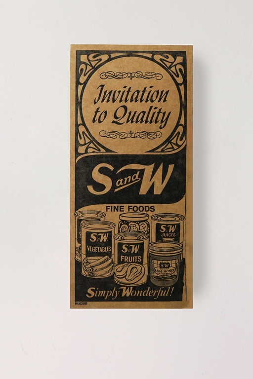 S&W Letterpress Print (Invitation to Quality)