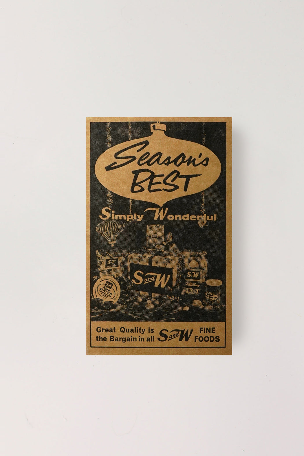 S&W Letterpress Print (Season's Best)