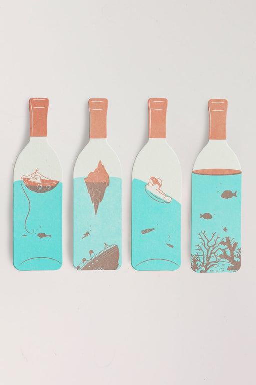 Mini Wine Bottle Bookmark Set