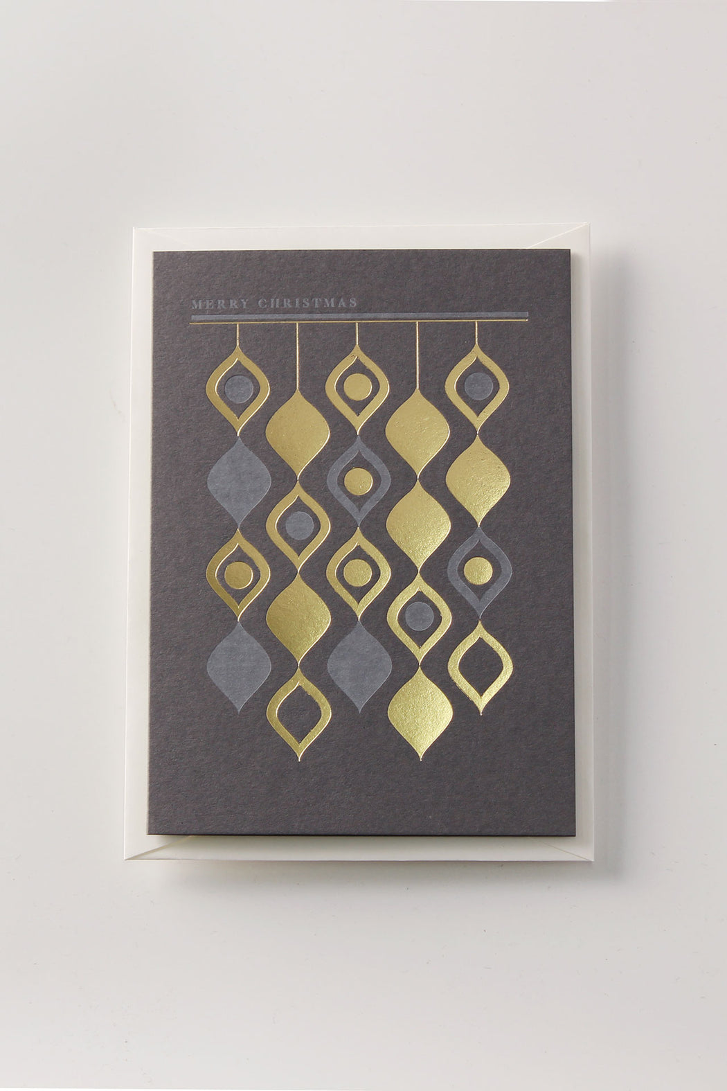 Swirling Tinsels Greeting Card