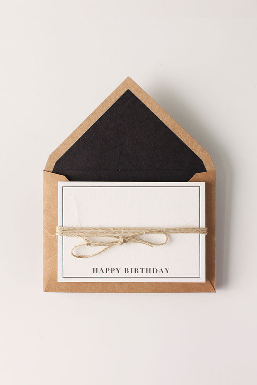 Letterpress Mini- Happy Birthday (Pack of 5)
