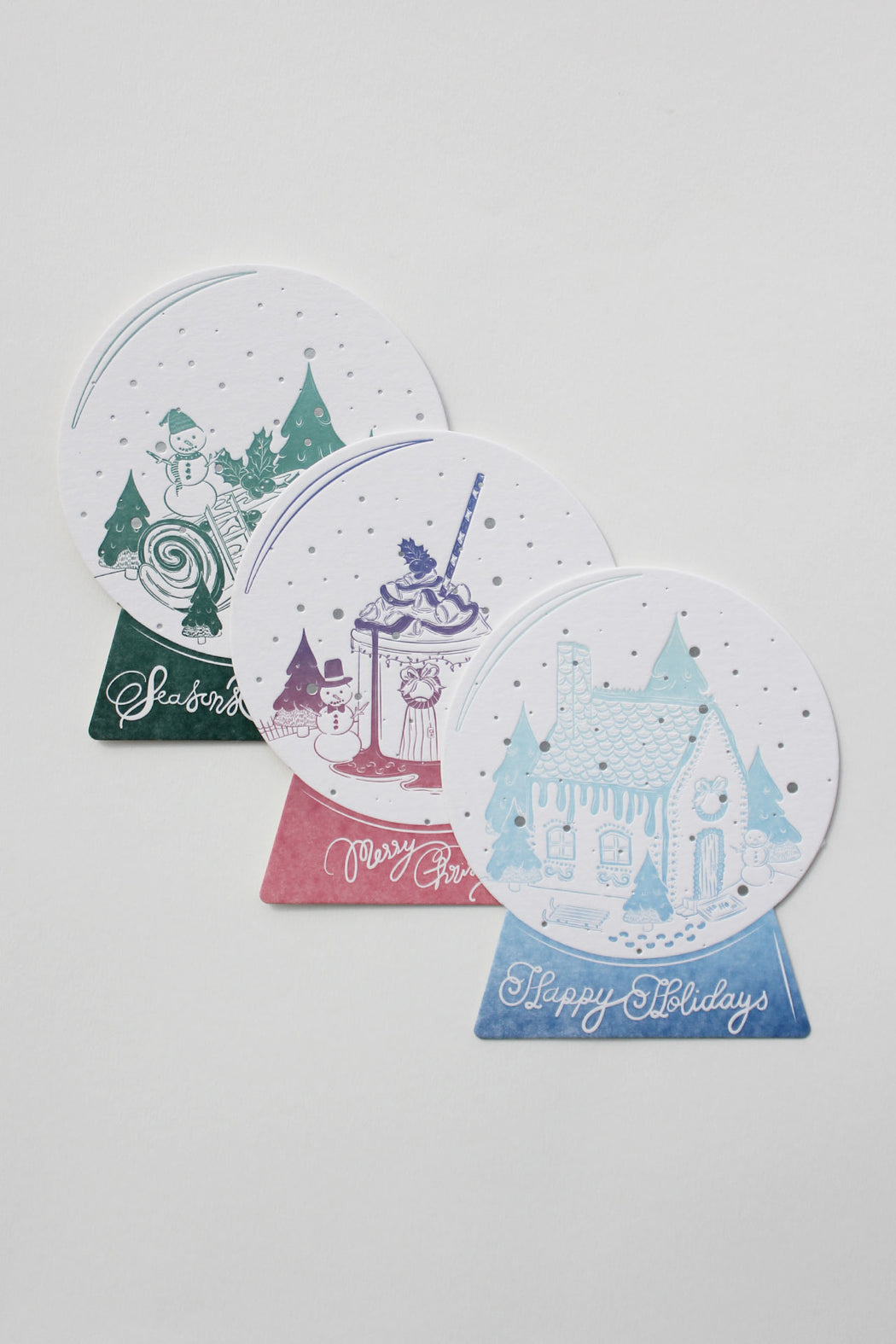 Whimsical Christmas Greeting Cards (Trio)