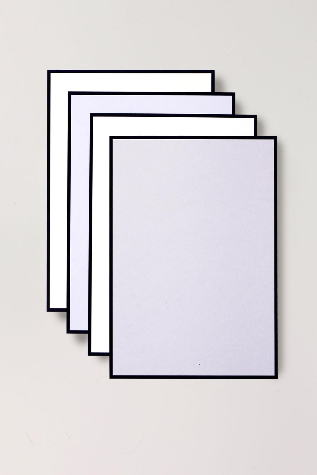 B6 Writing Cards - Pale Grey