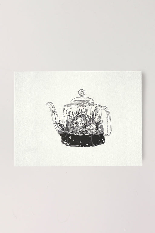 Teapot Terrarium in Black