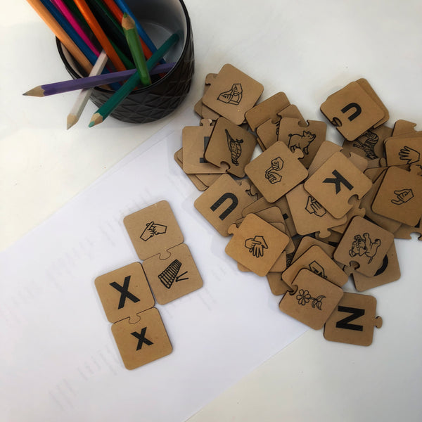Alphabet matching Puzzle (SOLD OUT)