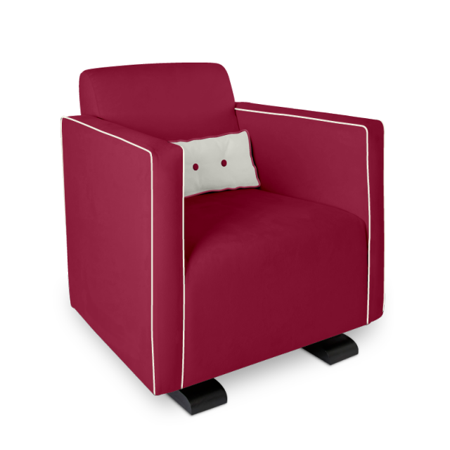 Olli Ella Da-Da Glider / Nursing Chair - Guava with Snow Accent