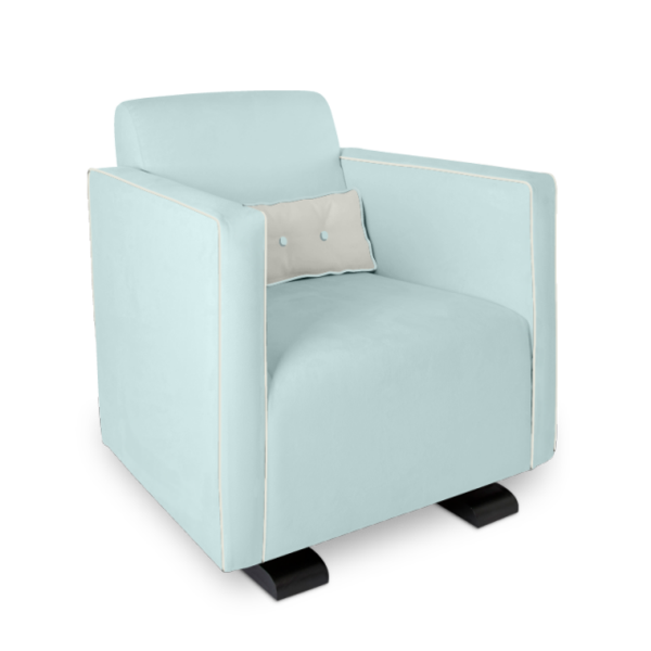 Olli Ella Da-Da Glider / Nursing Chair - Sky with Snow Accent