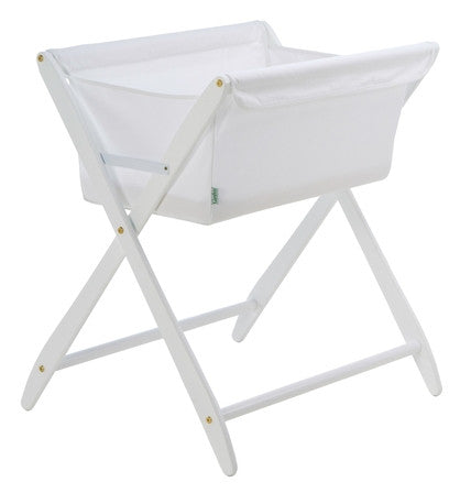 Cariboo Folding Bassinet - White
