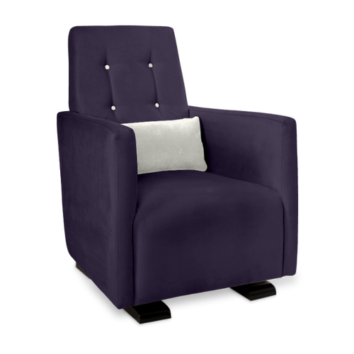 Olli Ella Go-Go Glider / Nursing Chair - Aniseed with Snow Accent