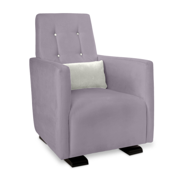Olli Ella Go-Go Glider / Nursing Chair - Musk with Snow Accent