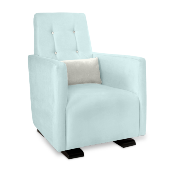 Olli Ella Go-Go Glider / Nursing Chair - Sky with Snow Accent