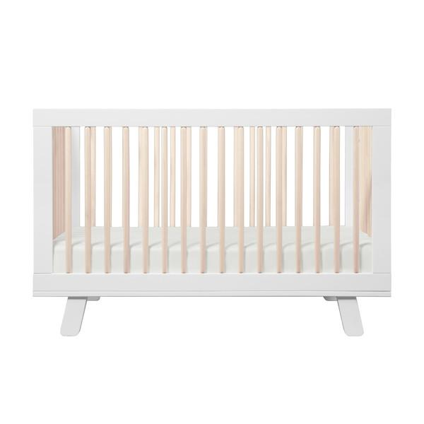 Babyletto Hudson 3-In-1 Cot - White & Washed Natural