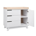 Babyletto Hudson Dresser / Changer - White & Washed Natural (Tray)