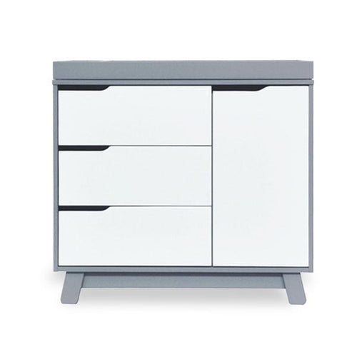 Babyletto Hudson Dresser / Changer - Grey & White