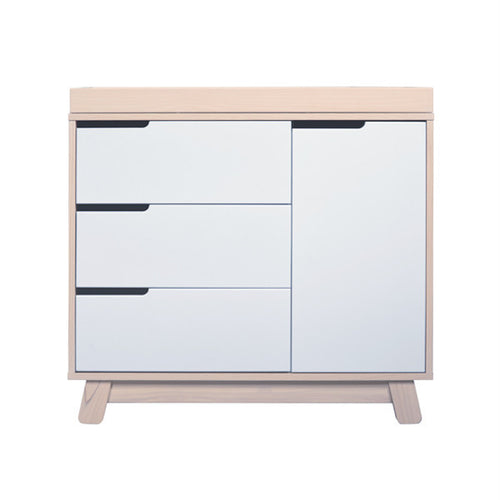Babyletto Hudson Dresser / Changer - Washed Natural & White